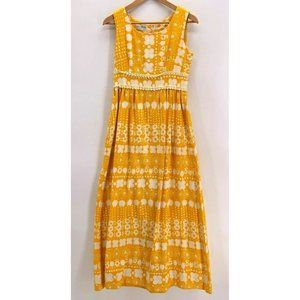Vintage 70s Alex Coleman Maxi Dress Yellow Small